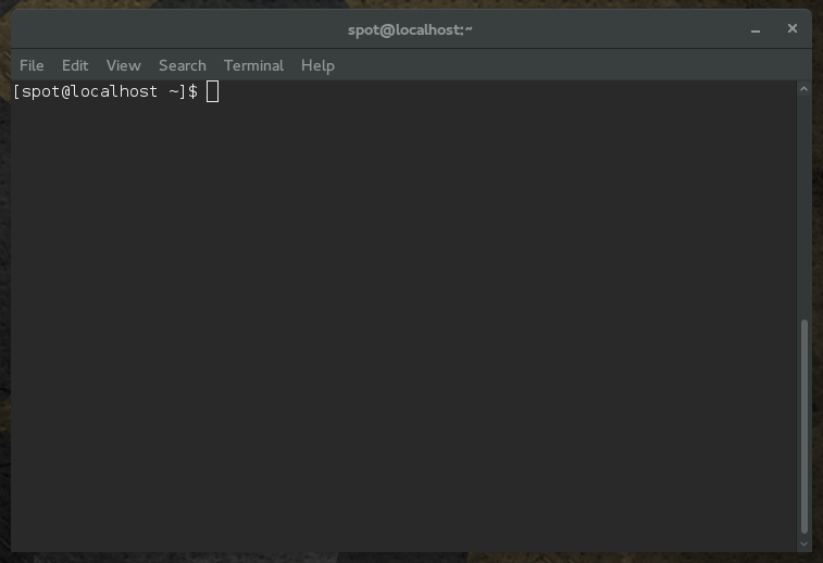 GNOME terminal, user in home directory